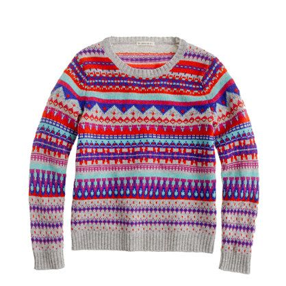 Girls' Fair Isle popover - sweaters - Girl's new arrivals - J.Crew ...