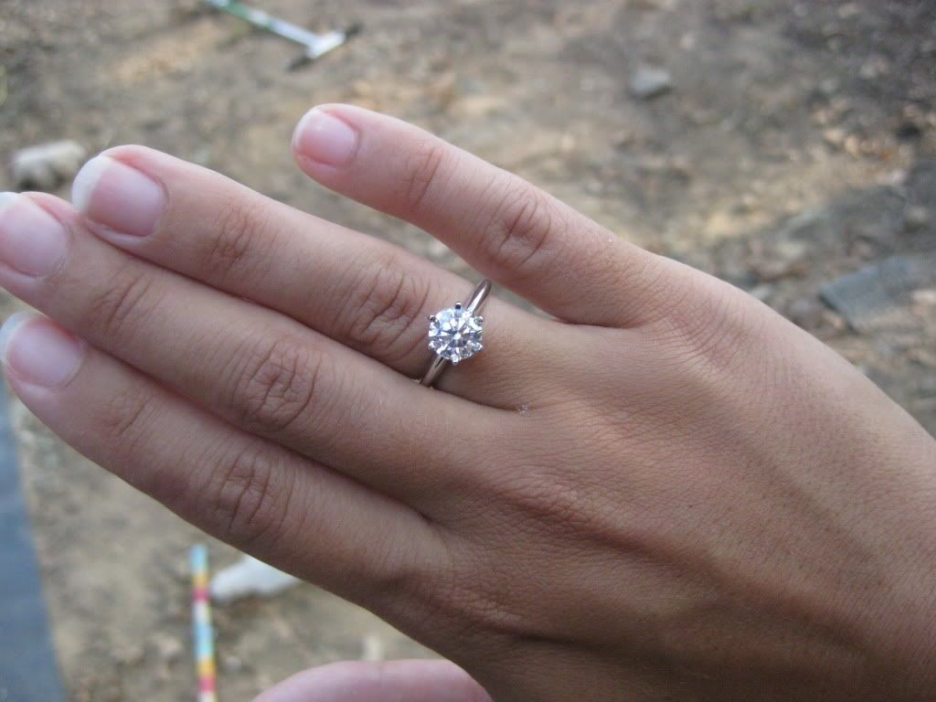 1 Carat Solitaire Diamond Ring On Finger