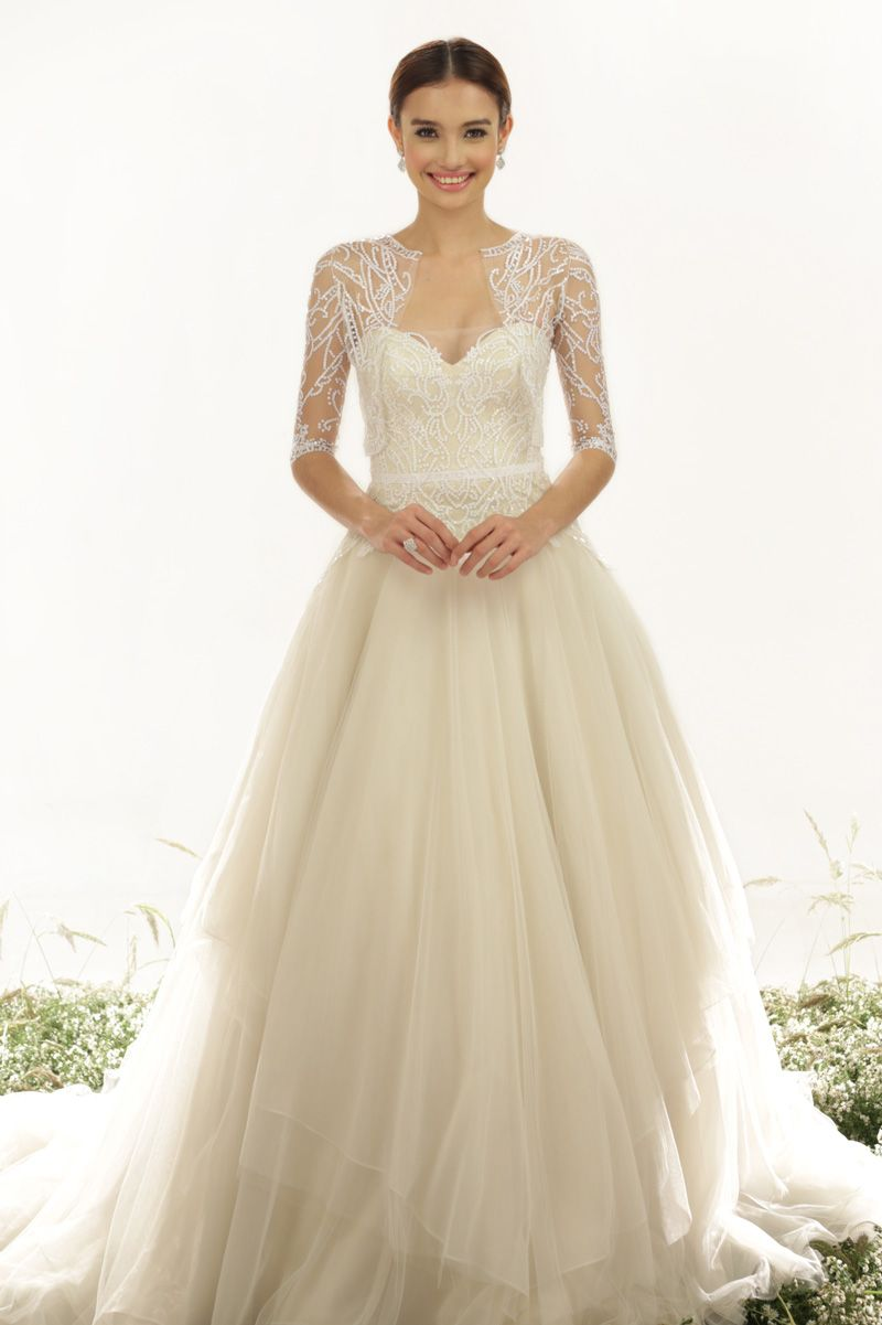 Where to find long sleeve wedding dresses  Hottest Wedding Gown Trends Of   Westchester Weddings  Annual