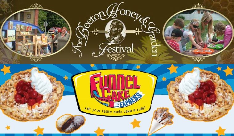 Funnel cake express will be attending the beeton honey