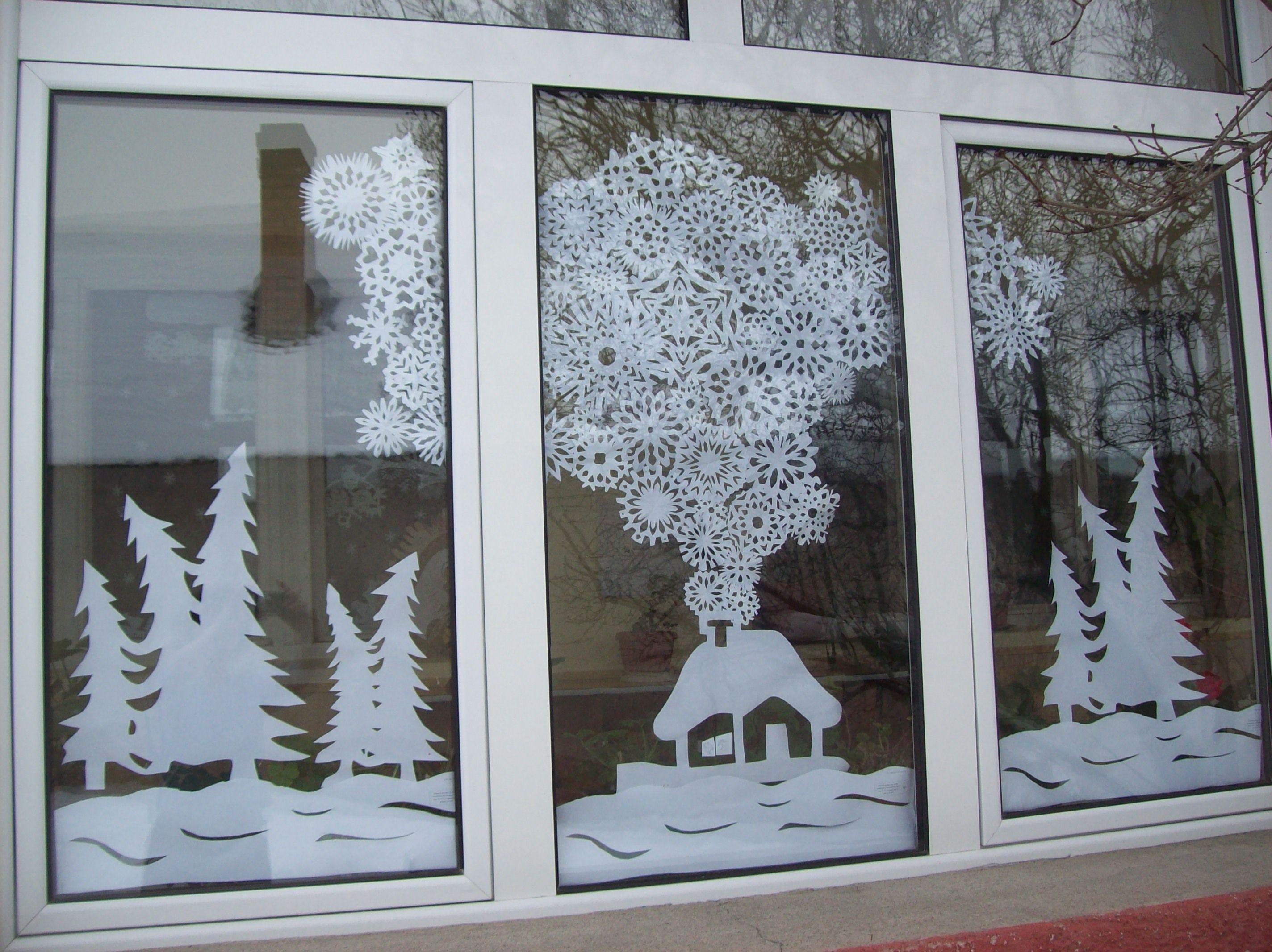 T li ablakk p pap rmunk k pinterest fensterbilder for Fensterdeko winter