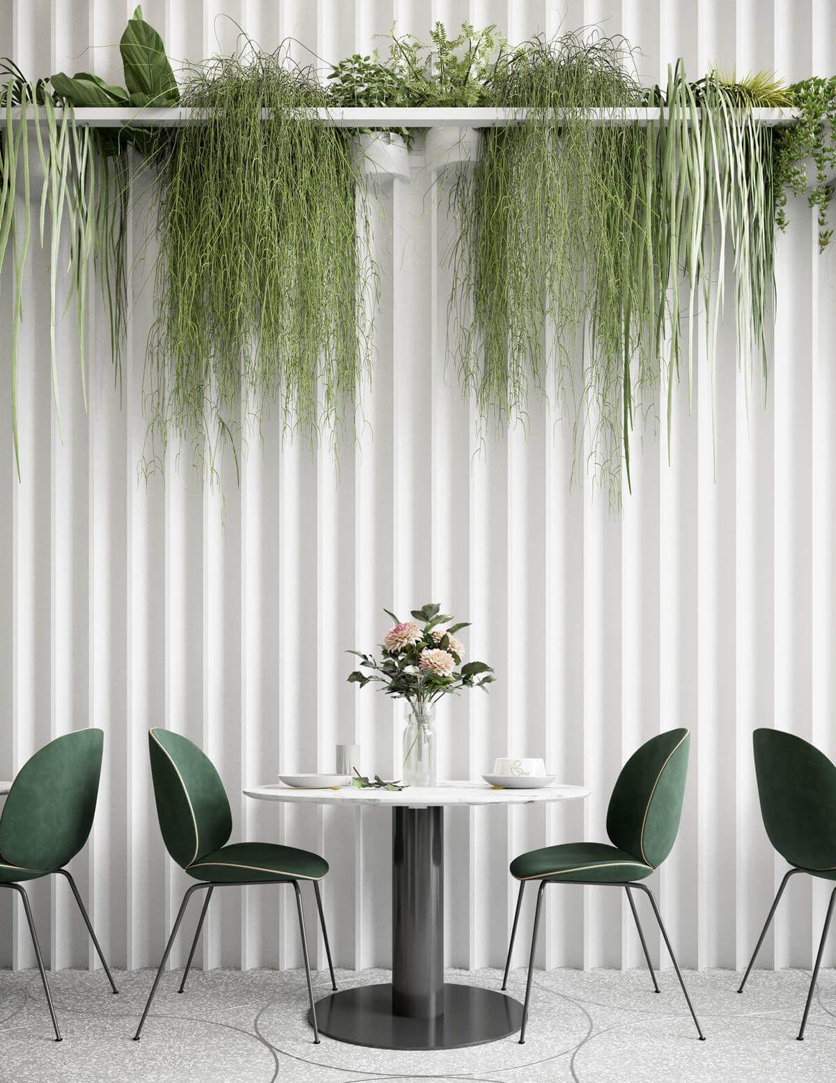 Cisne Lounge Café Design 21   Lush indoor plants bring life to the ...