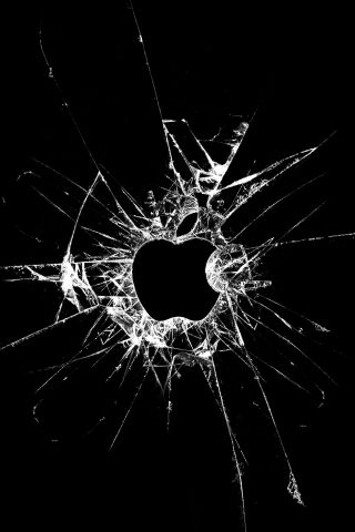 Broken Glass Apple Iphone Wallpaper And Ipod Touch Wallpaper
