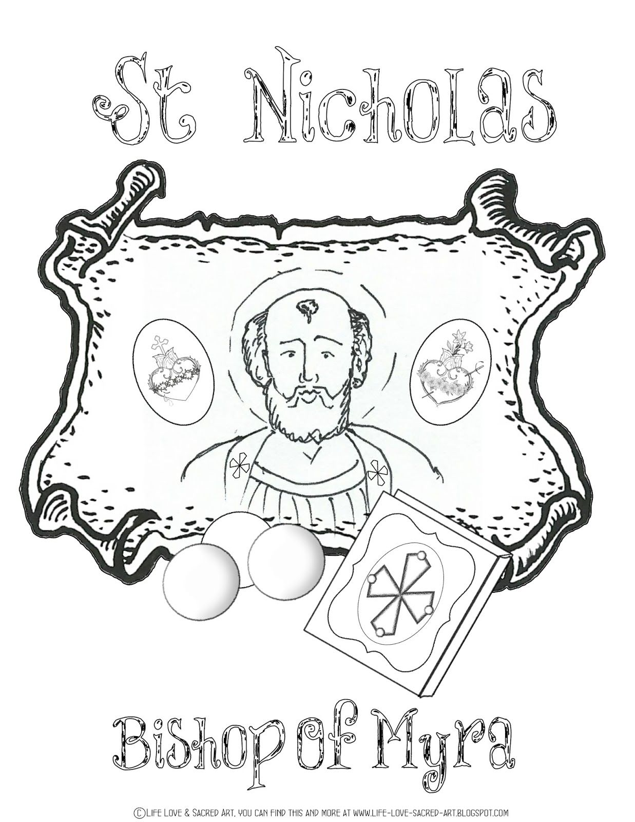 Nicholas st Free coloring pages pictures