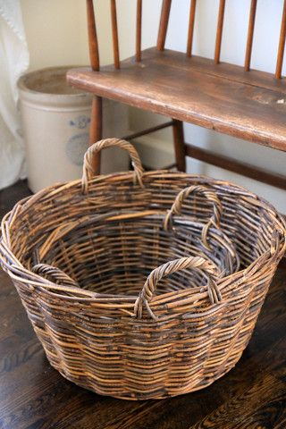 Rattan Laundry Baskets - Set of 2 - Everyday Occasions