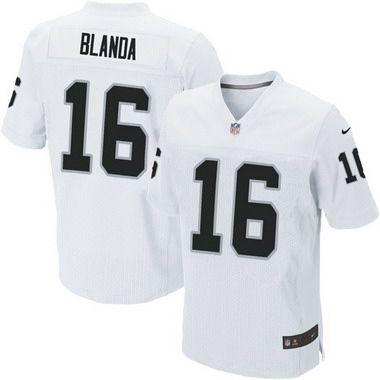 Men's Oakland Raiders #16 George Blanda White Retired Player NFL Nike Elite…