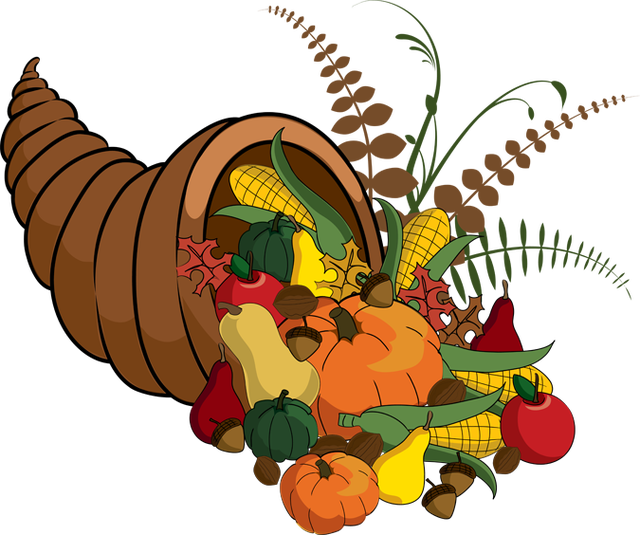 Thanksgiving Calendar Art : Thanksgiving clip art fall cornucopia