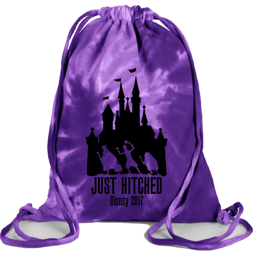 e028e955dfd Custom Disney Tie Dye Cinch Sack Hitchhiking Ghosts Drawstring Backpack  Disney Vacation Mickey s Halloween Party Haunted Mansion Ghosts Bag