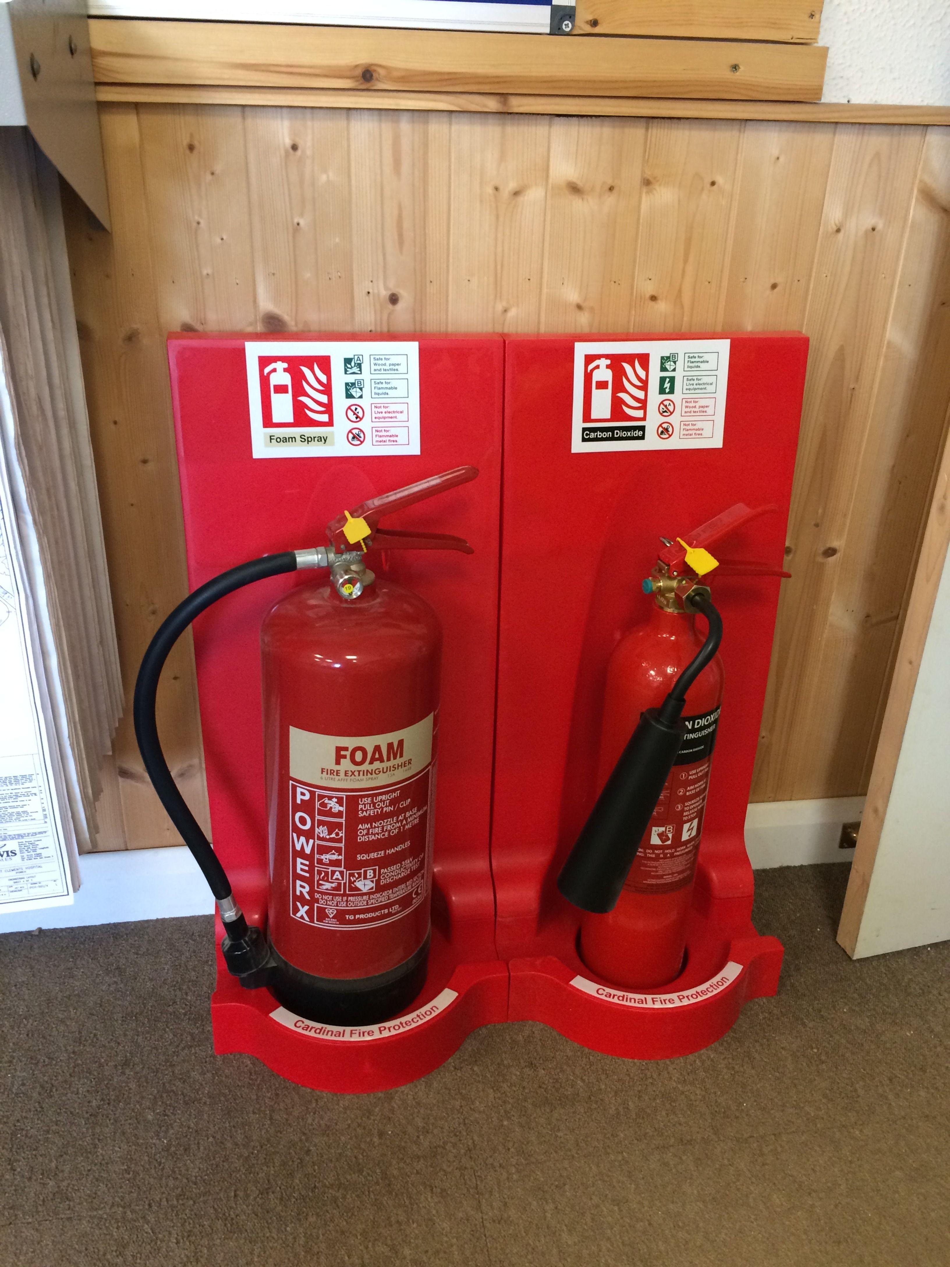 Modulex Flat Pack Fire Extinguisher Stand FMC Fire in