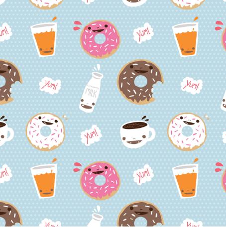 Milktooth Fabrics Kawaii Wallpaper Cute Wallpapers Kawaii Background