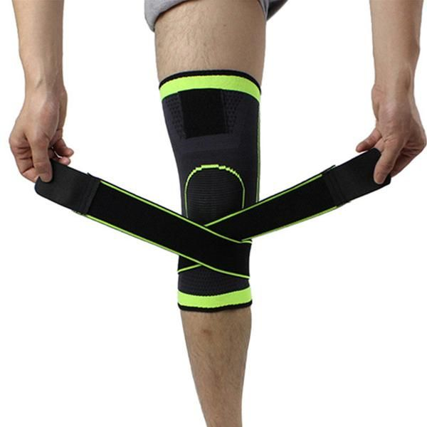 574728b548 3D weaving pressurization knee brace basketball hiking cycling knee Pad S M  L XL Clothing & Accessories Support ...