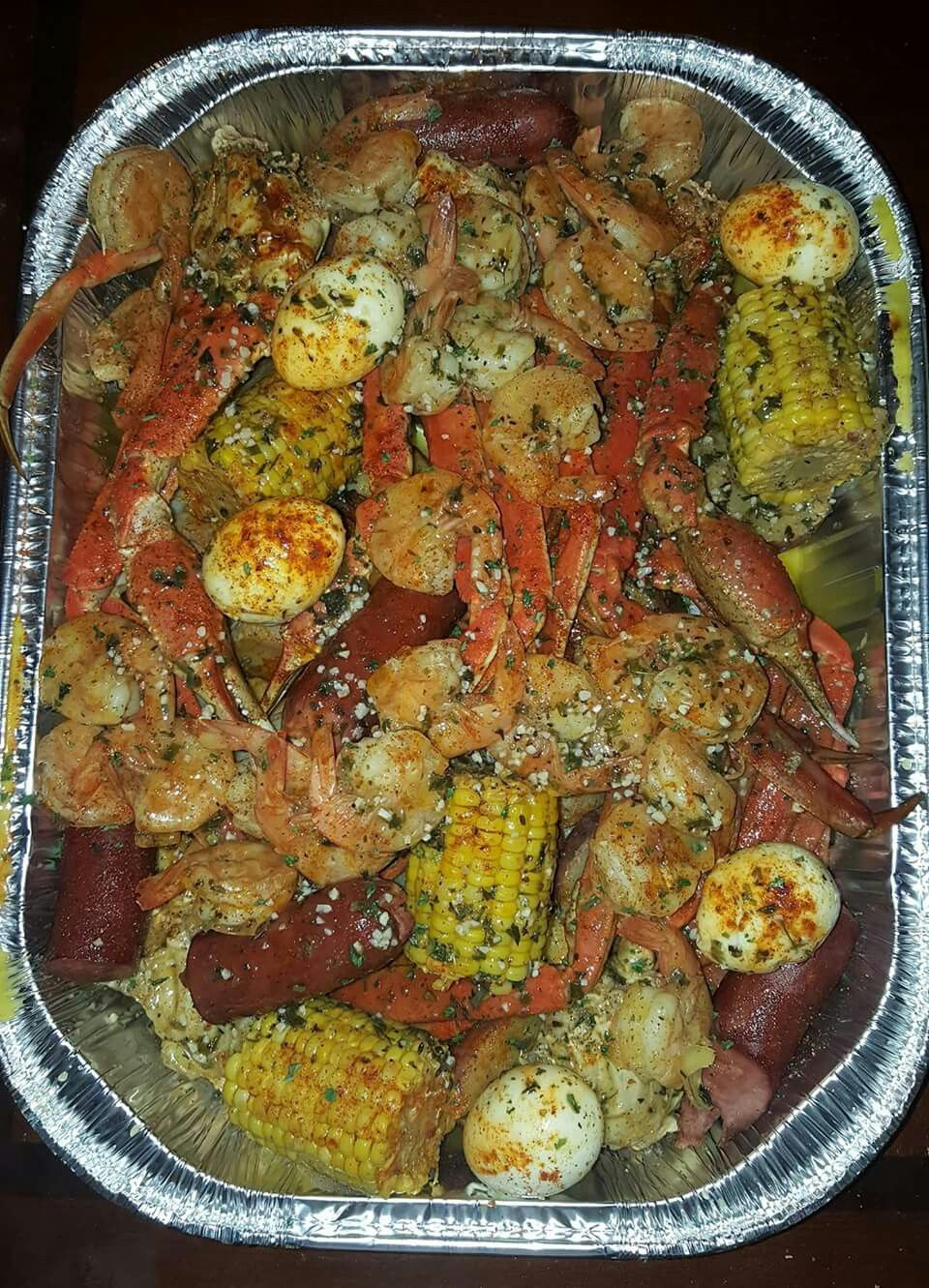 do your usual crab boil i start with potatoes first remove them rh pinterest com