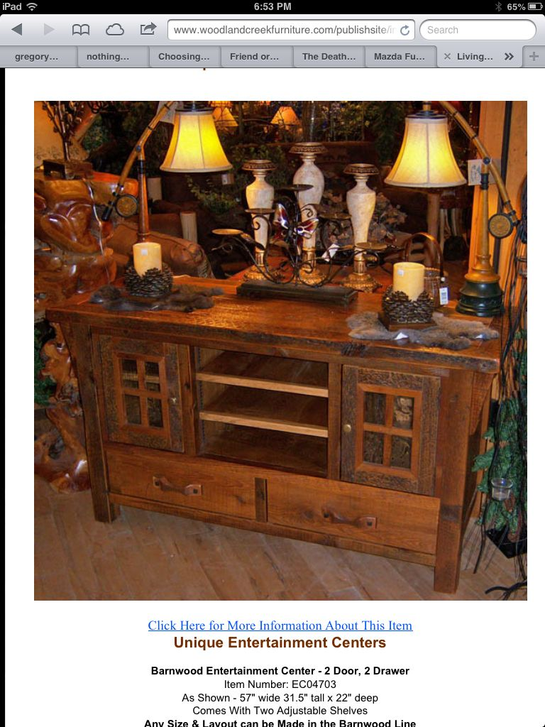 Woodland Creek Furniture Http://www.woodlandcreekfurniture.com