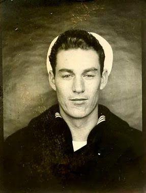Handsome sailor vintage photo booth photo