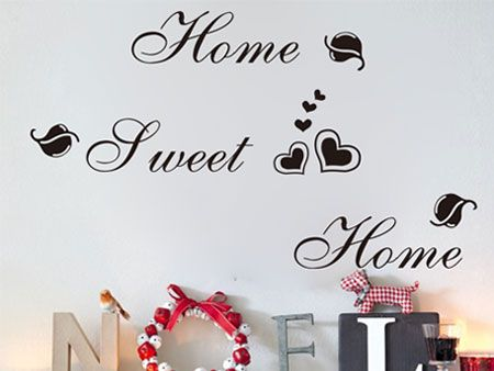 Muursticker Home Sweet Home.Home Sweet Home Muursticker Muurdecoratie Teksten Pinterest