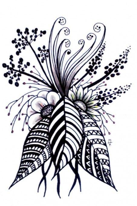zentangle doodle 17 zentangel pinterest zeichnen malen und blumen zeichnen. Black Bedroom Furniture Sets. Home Design Ideas