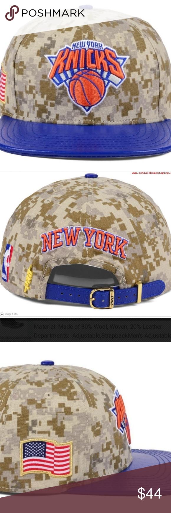 best cheap b81dc ac016 PRO STANDARD LEATHER BILL NY KNICKS CAP🔥 FRESH! Pro Standard Men s New York