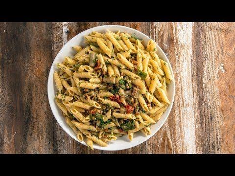 Kuşkonmazlı ve Kabaklı Makarna  Arda'nın Mutfağı 40. Bölüm Videolu Tarif