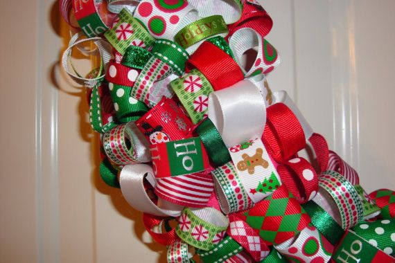 ribbon Christmas wreath