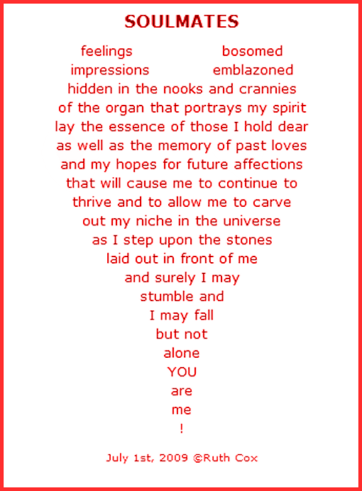 Heart Concrete Poem a Concrete Poem About Love