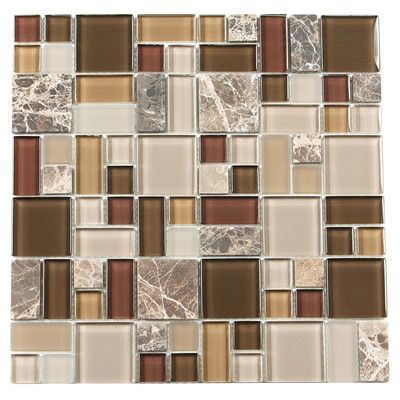 Paragon Glass Mosaic Tile In Sable Multi Mosaic Glass Glass Mosaic Tiles Metal Mosaic Tiles