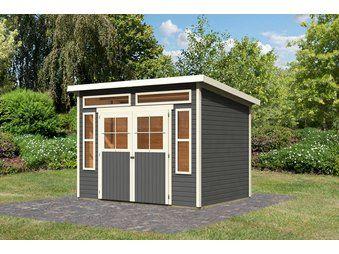 Karibu HolzGartenhaus Husund 6 Terragrau B x T 298 cm x