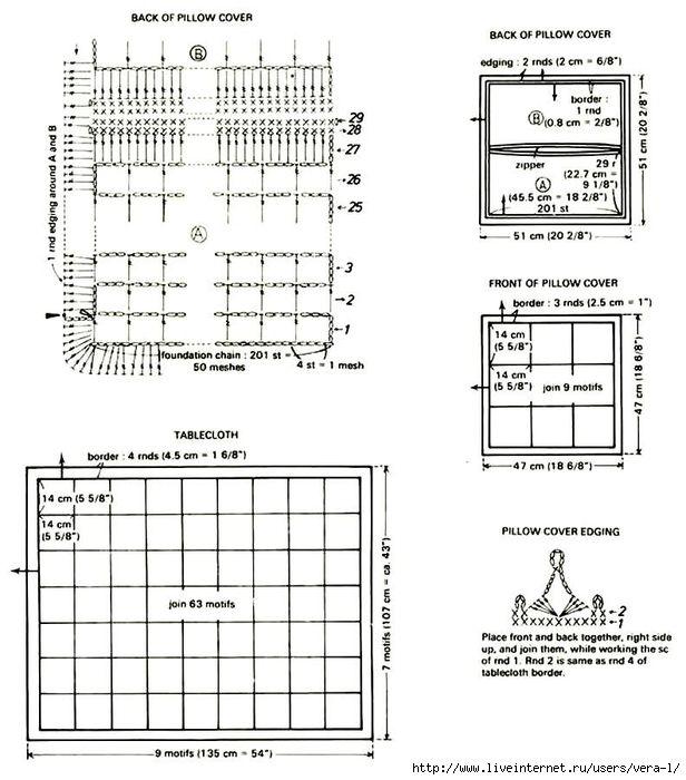 crochet-Mantel libre patrón 31 (3) (616x700, 218KB) | Puntos crochet ...
