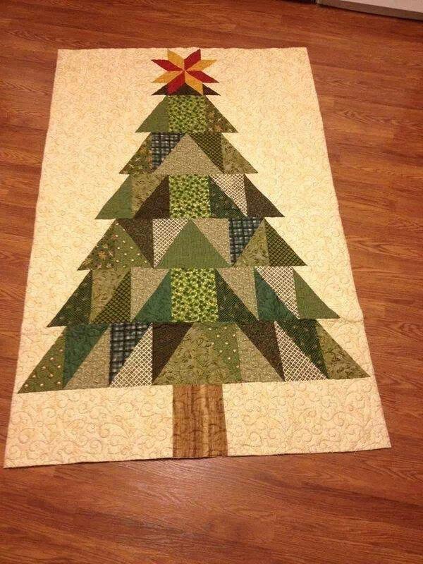 Life Size Christmas Tree Tree Quilt Block Christmas