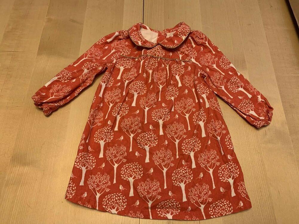 NEW Stunning Ex Mini Boden Blue Spot Print Dress 2 to 12 Years