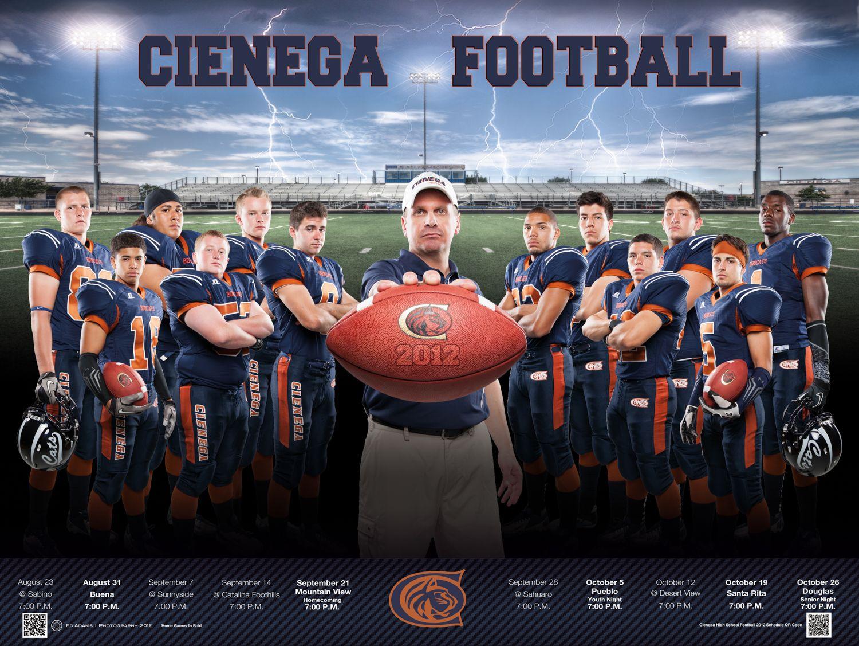 Cienega high school football poster 2012 football team