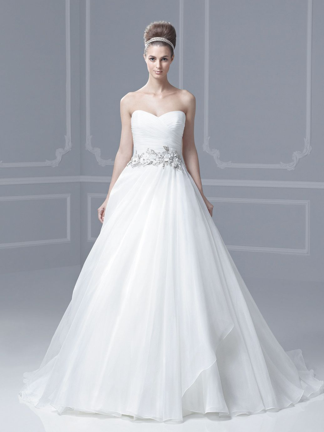 M10) BLUE BY ENZOANI FLORIDA SZ 14 IVORY WEDDING GOWN DRESS $900 OUR ...