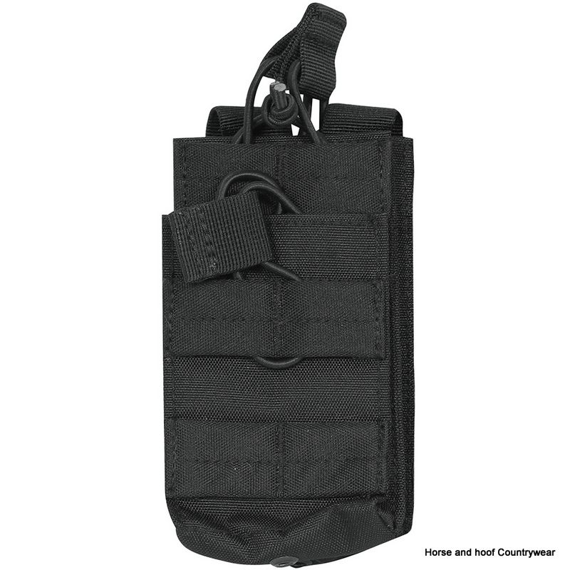 Viper Single Duo Mag Pouch - Black The Viper Duo Mag Pouch enables the user to stock magazines on most MOLLE panels The 600D Cordura enhances the smooth