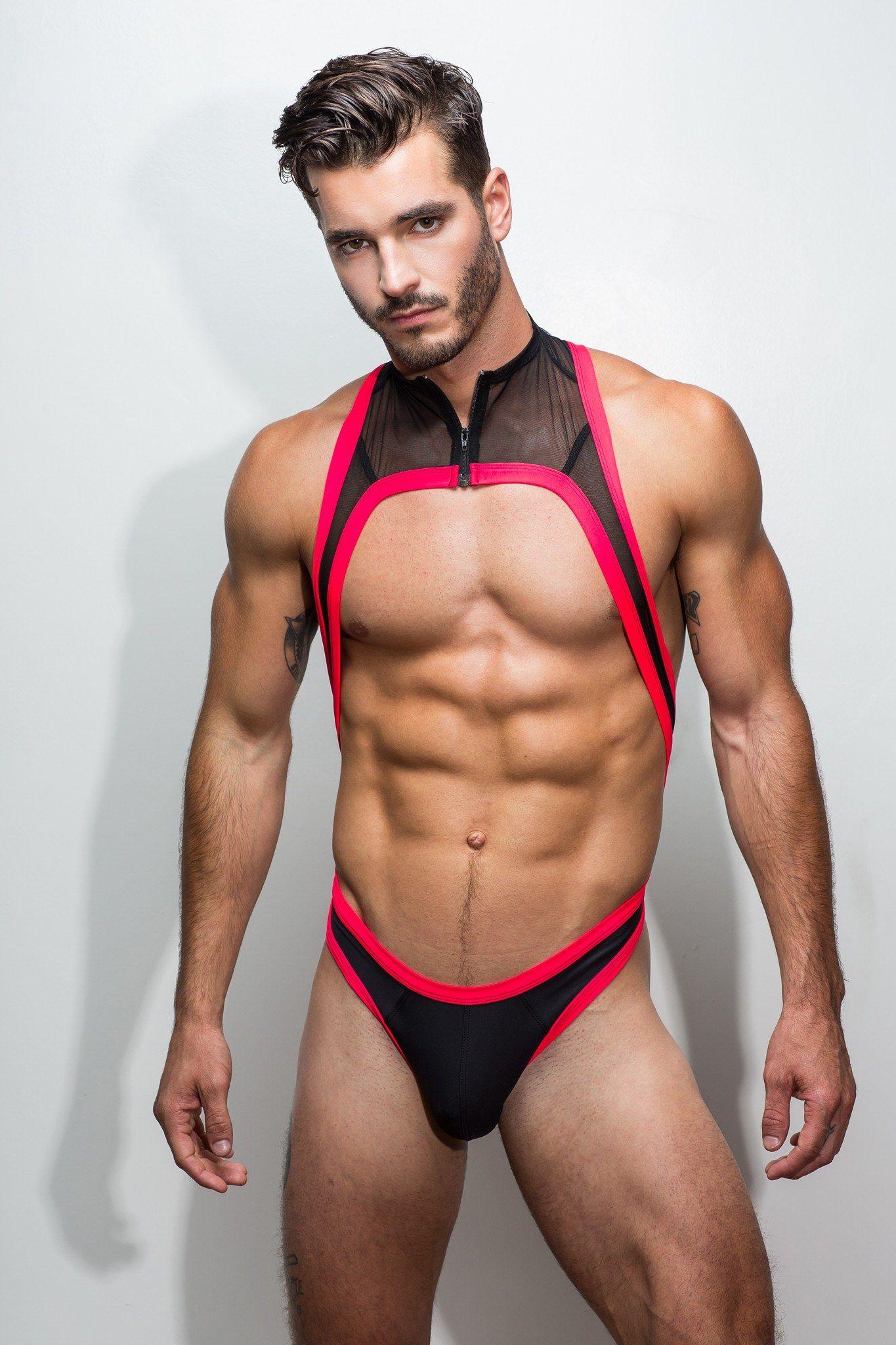 Thong Singlet - Neon Red - Marco Marco Underwear - 1