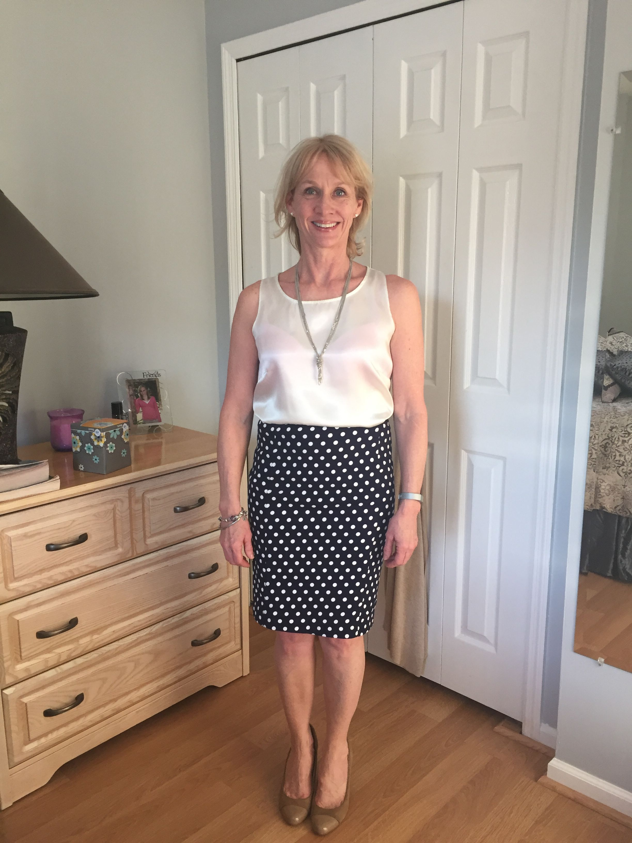 Such a cute skirt - perfect for work!