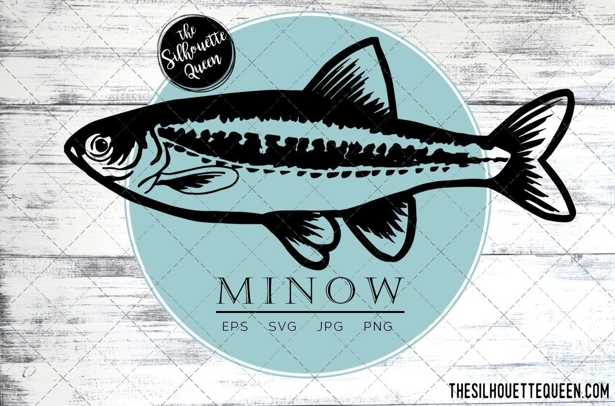 Download Minnow Fish Svg Design Files Hand Drawn Fishing Vector Etsy In 2021 How To Draw Hands Fish Vector Fishing Vector
