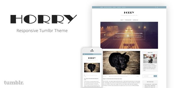 horry responsive tumblr theme website templates pinterest