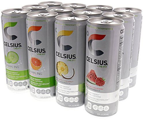 Celsius Live Fit Natural Fitness Energy Drink 12 12oz Cans Variety Pack Drinks Healthy Energy Drinks Live Fit