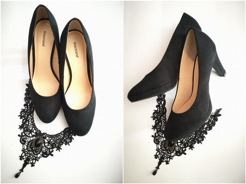 31cfd916528db Czarne eleganckie buty na obcasie - vinted.pl Kup mój przedmiot na  #vintedpl http