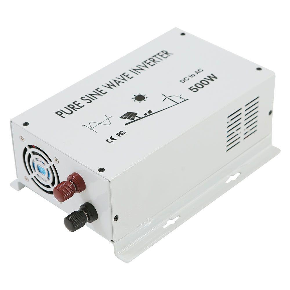 12v To 120v 500w Power Inverter Pure Sine Wave Home Solar True Idea Led Display