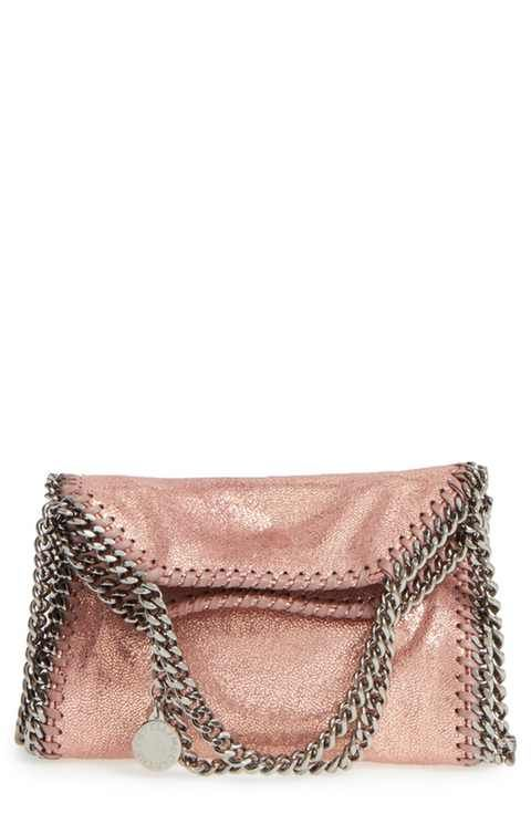 bcf709665577 Stella McCartney  Tiny Falabella  Metallic Faux Leather Crossbody ...