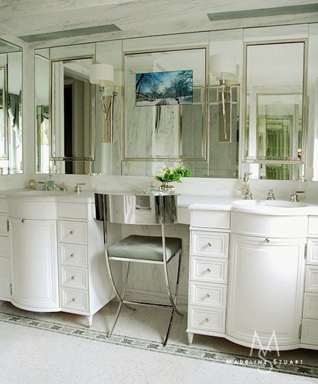 New York City Loft features mirror other the vanity in the ...