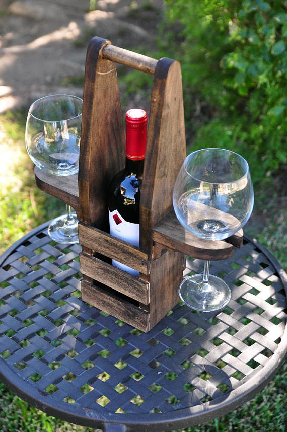 Photo of Table Top Wine Caddy- Our Table Top Wine Caddy is the perfect gift for …