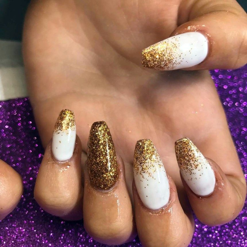 Fancy White Coffin Nails – Bright and Fasionable Designs 2018 ...
