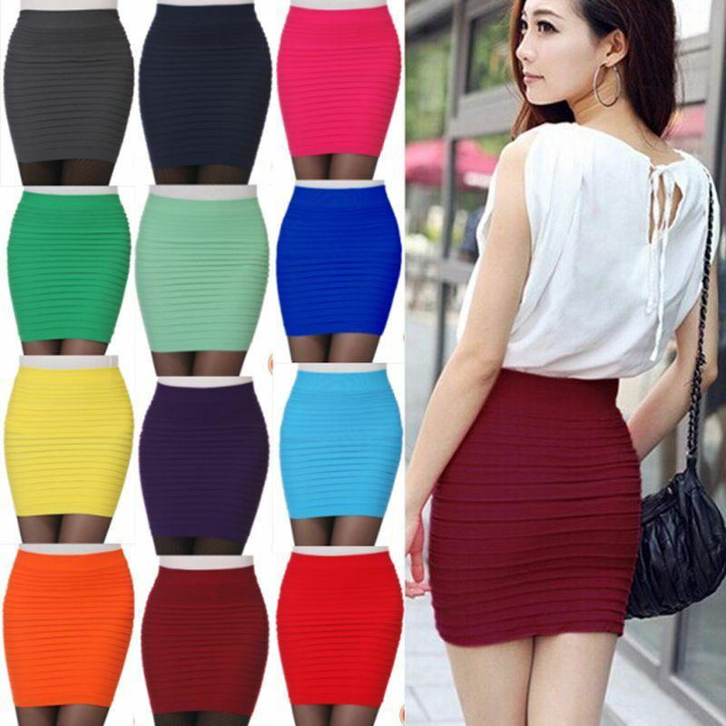 bodycon mini skirt outfit