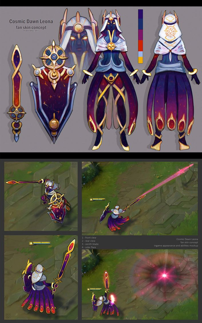 Cosmic Dawn Leona | League of Legends Skin Concepts | League Of