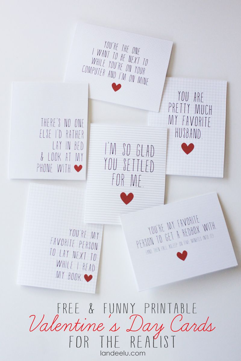 Funny Printable Valentine\'s Day Cards