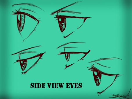 Side View Eyes Female By Kira09kj On Deviantart Anime Side View Anime Eyes Eye Drawing