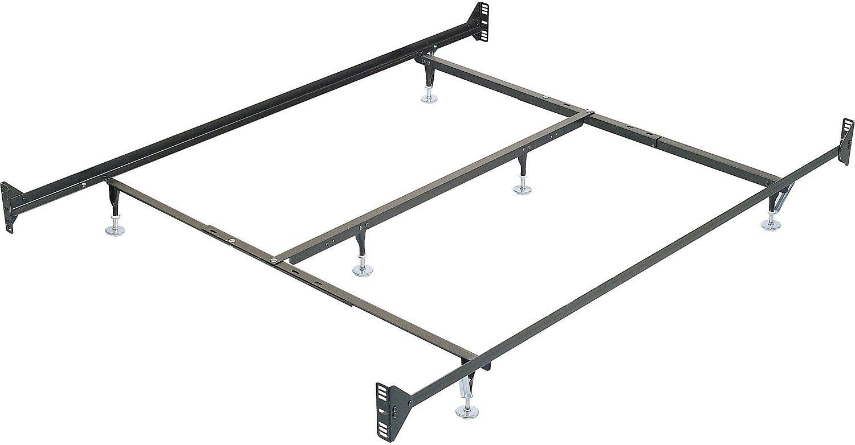 Queen Metal Glide Bedframe w/ Headboard/Footboard Attachment ...