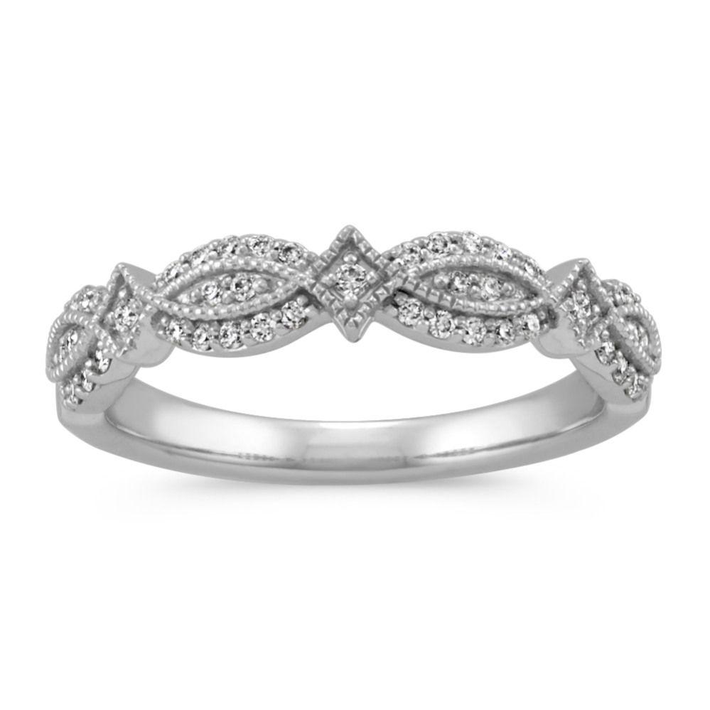 Vintage Round Diamond Wedding Band Round Diamonds Wedding Band Diamond Wedding Bands Wedding Rings Unique