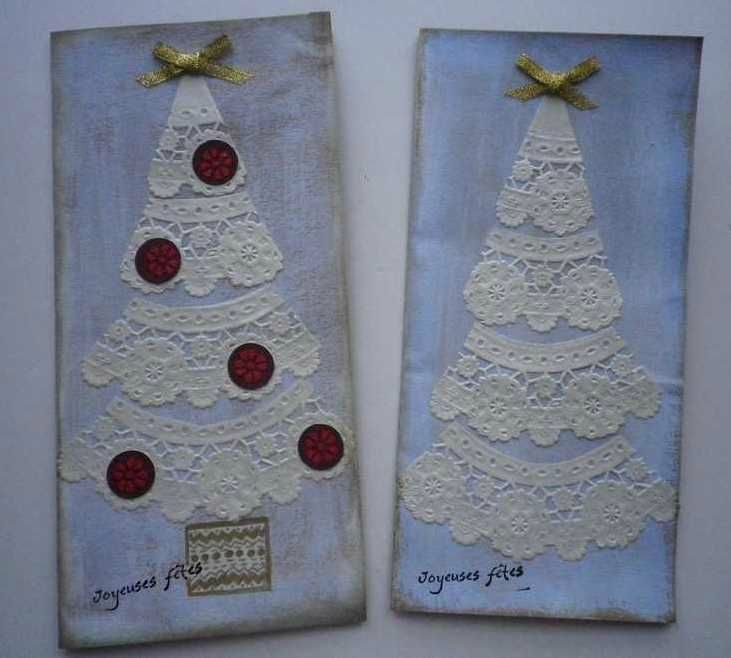 Lace Christmas Trees Crafty Different kinds of Christmas trees
